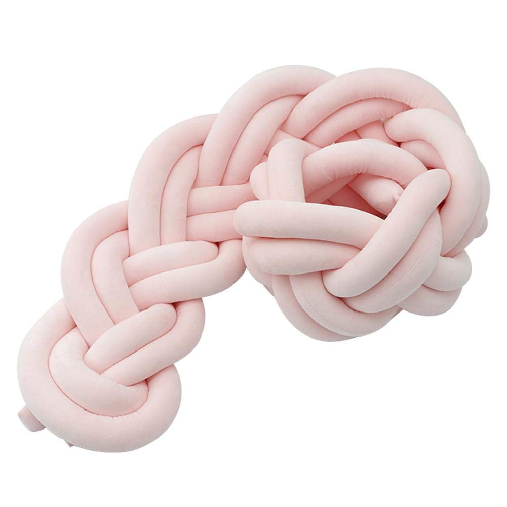 6 Strands Of Bed Bumpe Woven Bumper DIY Hand-made Twist Bed Knot Strip Knot Ball Pillow 1.5 M Soft To Prevent Woven Mat Deformation For All Types Of Cribs by Covcow