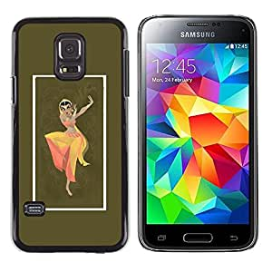 Shell-Star Arte & diseño plástico duro Fundas Cover Cubre Hard Case Cover para Samsung Galaxy S5 Mini / Samsung Galaxy S5 Mini Duos / SM-G800 !!!NOT S5 REGULAR! ( Indian Woman Dress Dance Attire Pose Sign )