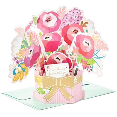 (Hallmark Wonderfolds Blossoming Flower Bouquet Pop Up Birthday)