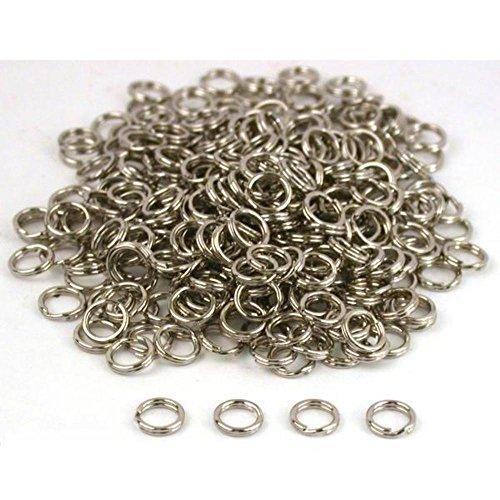 300 Nickel Split Ring Parts Bracelets Fishing Lures - Nickel Lures