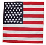 American Flag Bandana 21 Inches by 21 Inches MADE IN THE USA