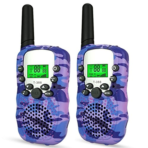 DIMY Toys for 3-12 Year Old Girls, Stocking Stuffer Fillers Walkie Talkies for Kids Toys for 3-12 Year Old Boys Girls Brithday Gifts for 3-12 Year Old Girls 2018 Christmas New Gifts Purple DMDJJ06