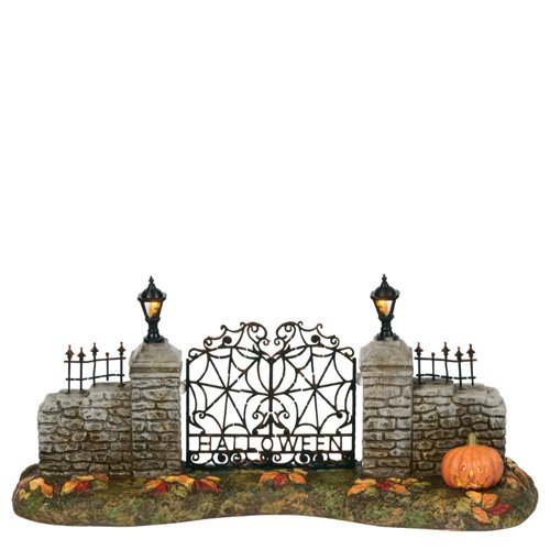 Department56 Snow Village Accessories Halloween Entry Gate Lit Figurine, 3.25