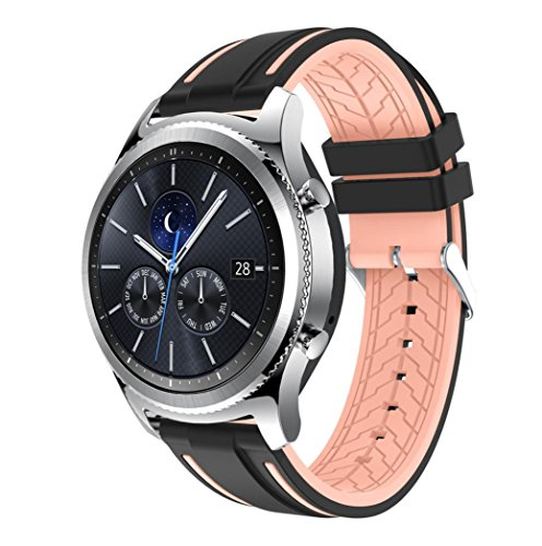 Price comparison product image For Samsung Gear S3 Classic, Outsta New Fashion Sports Silicone Bracelet Strap Band (J)