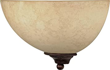 Nuvo 60/044 One Light Wall Sconce with Tuscan Suede Glass Old Bronze  sc 1 st  Amazon.com & Nuvo 60/044 One Light Wall Sconce with Tuscan Suede Glass Old ... azcodes.com