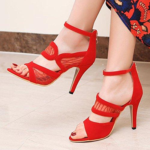 Atyche Alta Zapatilla Rojo Mujer Alta Mujer Rojo Zapatilla Atyche Atyche rwtgrqU