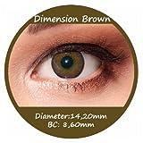 Farbige Kontaktlinsen Braun 3 Monatslinsen Contact lenses Design: Dimension Brown Bild