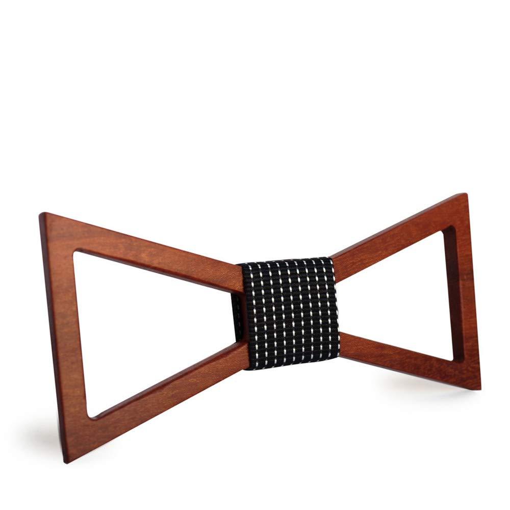 Color : B MAODATOU Men s Wooden Bow Tie Men Geometric Wooden Bow Tie Handmade Wood Bow Ties Butterfly Ties Men Accessories Ties