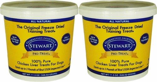 Stewart Pro-Treat Chicken Liver Freeze-Dried Treats 23oz (2 x 11.5oz) ()