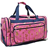Gold Arrow Pink NGIL Canvas Carry on Shoulder 23'' Duffle Bag