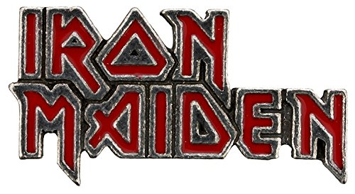 Alchemy Rocks Iron Maiden Classic Logo Enamel Pin (Rock Band Pins)