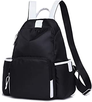 Outdoor Travel Climbing Rock Climbing Backpack Fashion Waterproof Backpack Color : Black Mens and Womens College Student Knapsack Oxford Cloth Material Rucksack