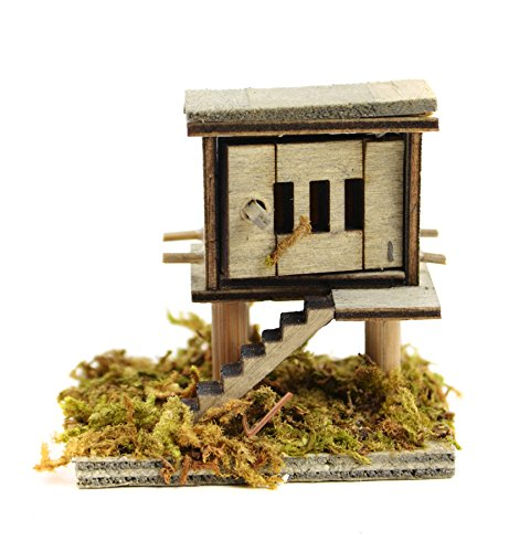 Touch of Nature 55260 1 Piece Micro Miniature Wooden Chicken Coop, 2 x 1.75