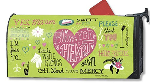 MailWraps Magnet Works Bless Yer Heart Magnetic Mailbox Cover