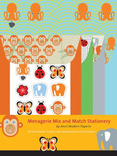 Menagerie Mix and Match (Match Stationery Books)