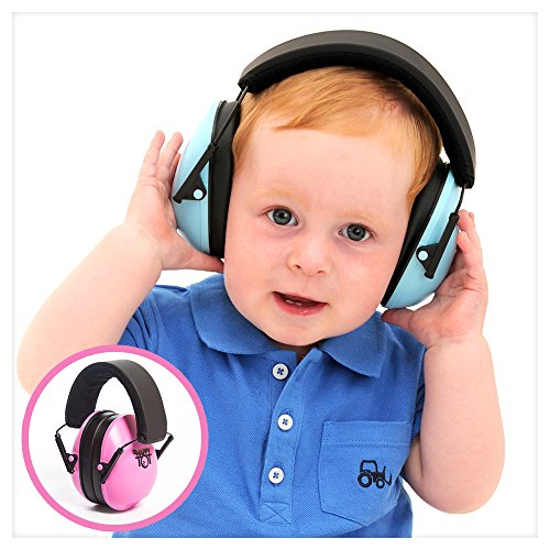 Hearing Protection Headphones. Noise Reduction for Children & Infants, Fully Adjustable for 0-12 Yrs. Low Profile Cups, Padded Snug Fit Professional Earmuffs for Kids by My Happy Tot