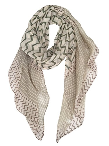 GERINLY Soft Stylish Shawl Wrap: Wave Stripe Print Lightweight Scarf (Lightweight Scarf)