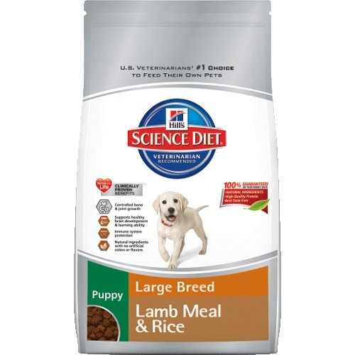 Hill's Science Diet Puppy Lamb Meal and Rice Recipe Large Breed Dry Dog Food Bag, 33-Pound, My Pet Supplies