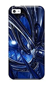 Fashion AqjDpwF7303DskeG Case Cover For Iphone 5c(fluid Blue Dynamics Abstract Other)
