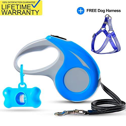 Winmor Heavy Duty Nylon Retractable Dog Leash with Bonus Free