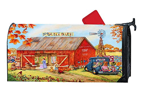 Mailbox Cover Magnetic, Autumn Decorative Mailbox Wrap for Standard Steel/Meal Mailbox, All Weather Vinyl, 6.5