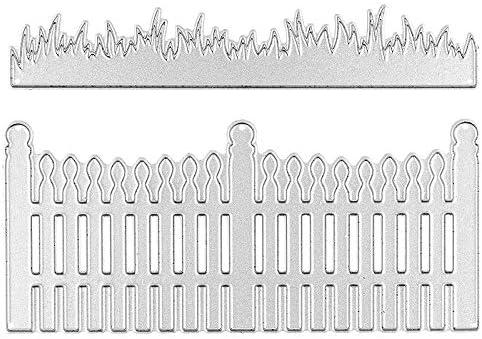 10,6 cm x 2 cm 10,6 cm x 4,7 cm Fustelle per recinzione e erba 2 pezzi