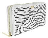 Roberto Cavalli GQLPA3 101 Silver Audrey Long Size Wallet W/Zipper for Womens
