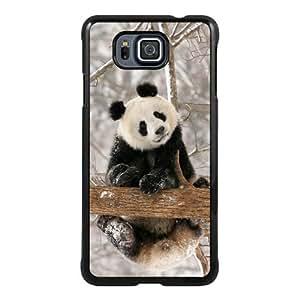 Samsung Alpha Phone Case,panda Black Pattern Cool Design Samsung Galaxy Alpha Cover Case