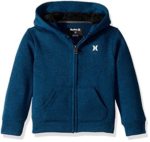 (Hurley Boys' Toddler Full Zip Sweatshirt, Blue Force icon, 4T)