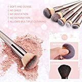 BESTOPE Makeup Brushes with Champagne Gold Conical