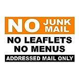 No Junk Mail Self Adhesive Door Sticker Orange & Black - self adhesive vinyl
