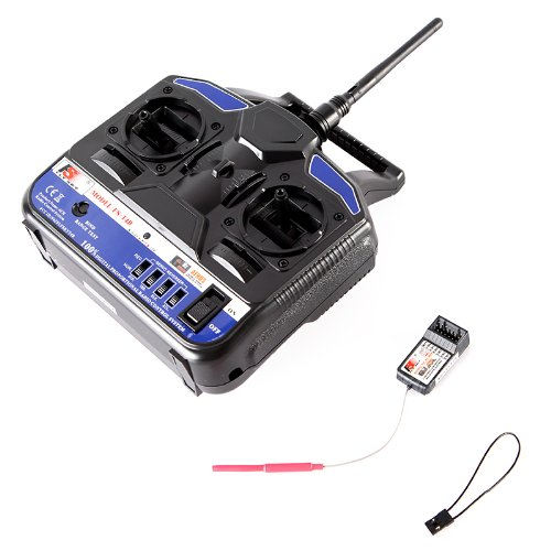 Kingzer FS-T4B 2.4G 4CH Radio Control RC Transmitter & Receiver for Helicopter Airplane by KINGZER (Image #2)