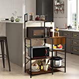amzdeal Kitchen Bakers Rack with Storage