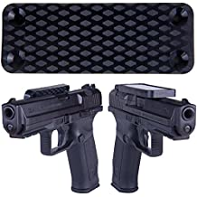 Magnetic Gun Mount & Holster For Vehicle And Home - HQ Rubber Coated 35 Lbs Rated - Firearm Accessory. Concealed Holder For Handgun, Rifle, Shotgun, Pistol, Revolver, Truck, Car, Wall, Vault, Desk