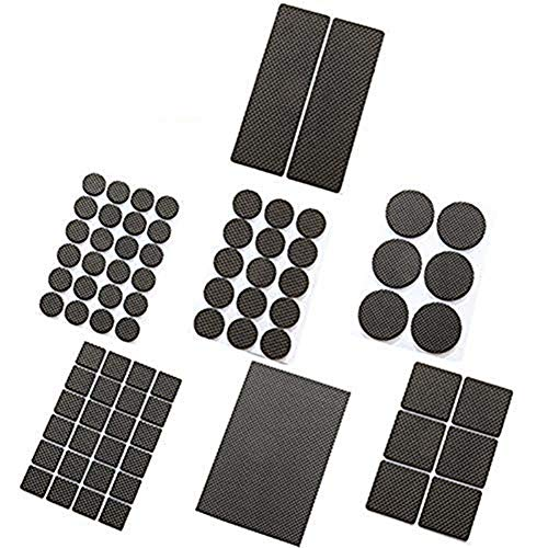 Non Slip Furniture Pads Furniture Floor Pads Assorted Sizes with Noise Dampening Rubber Bumpers Floor Protectors for Hardwood & Laminate 156 Pieces