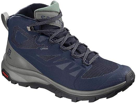 SALOMON Shoes Outline Mid GTX BK/Beluga/Capers, Zapatillas de montaña para  Hombre