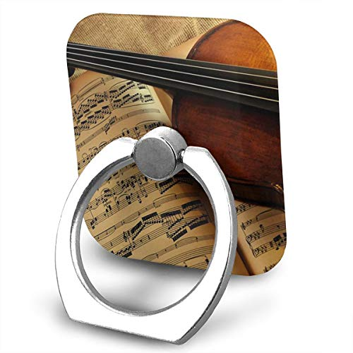Phone Ring Finger Holder, Square Musical Instruments Violin Lovers Printed Universal Smartphone Holder Stand, Cell Phone Ring Finger Holder Grip Almost All Phones/Pad