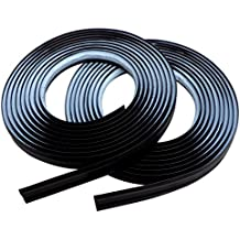 InstaTrim - Universal, Flexible, Adhesive Trim Solution - Cover Gaps Between Walls, Floors, Ceilings, and More (Black)