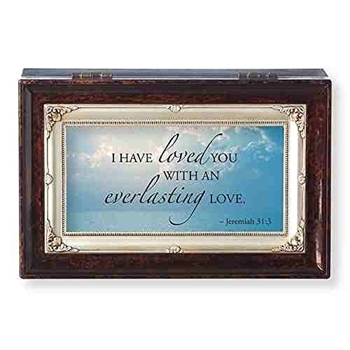- Roman Everlasting Love Brown Insert Small Music Box Encouragement and Inspirational