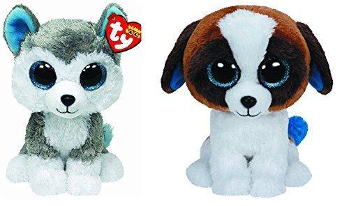 Ty Slush   Duke Beanie Boos Dogs Set Of 2 Plush Toys