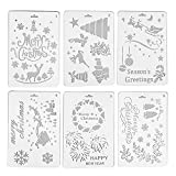 Christmas DIY Decorative Stencil Template Set, Lumisun Drawing Stencils Scale Template for Painting on Wood Walls Furniture Crafts Scrapbooking