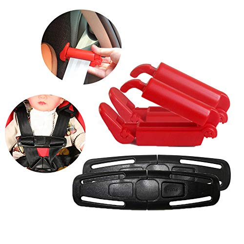 BUSOHA Chest Harness Clip/Toddler Chest Harness Clip and Car Seat Safety Belt Clip for Baby Safety Car Seat (Set of 4) ()