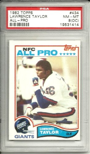 1982 topps lawrence taylor rookie graded psa 8 (oc) from Topps
