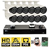GW 16CH 4K (3840×2160) NVR H.265 Simplified PoE 12 5MP 1920p SuperHD 4X Motorized Zoom Outdoor Indoor Security Camera System, 100ft Night Vision, ONVIF Compliant, 4TB Included (2 SATA, Up to 16TB) Review