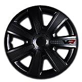 Image of Alpena 58259 VR Carbon Wheel Cover Kit - Black - 15-Inch - Pack of 4