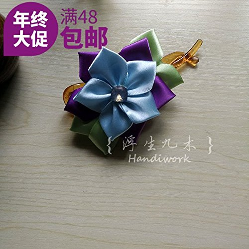 SHAW original handmade jewelry \ shilly-character ribbon ice flower clip banana clip hair ornaments late horse hair for women girl lady