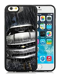 High Quality iPhone 6 4.7 Inch TPU Case ,Cool And Fantastic Designed Case With Silver-Chevrolet-Camaro-In-The-Rain Black iPhone 6 Cover
