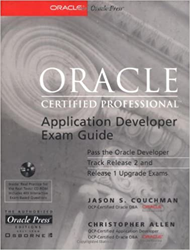Oracle Certified Professional Application Developer Exam Guide ...