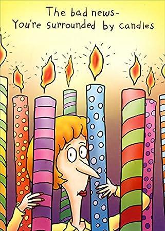 Amazon.com: Rodeado de velas – avena Studios divertida ...