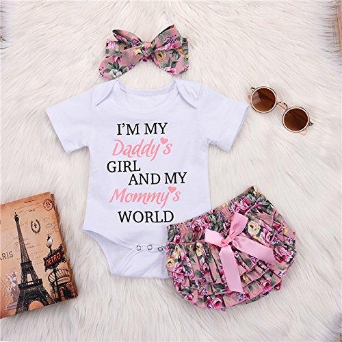 9cb0cbaf2767 Jual Catpapa 3PCS Newborn Baby Girl Romper Jumpsuit Bodysuit +Pants ...